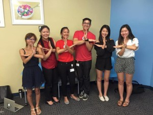 UCLA Red Cross volunteers at an orientation
