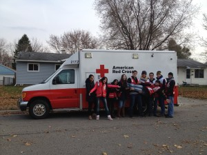 In 2014, University of Michigan Red Cross volunteers installed 24 fire alarms in two days, fundraised and blood battled Ohio State