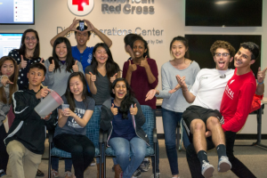The Silicon Valley Youth Executive Board takes a silly picture together after a productive meeting. Their team meets bimonthly to plan and execute events for over 1,500 youth.