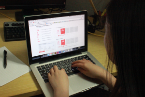 A youth volunteer records the hours she volunteered at an event.