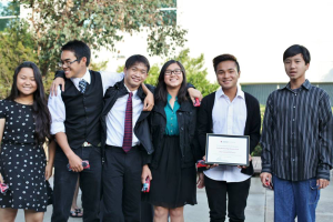 Yerba Buena High School Red Cross club receives an award for their fantastic work!