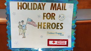 A card from the CJCPCS Red Cross Holiday Mail for Heroes event