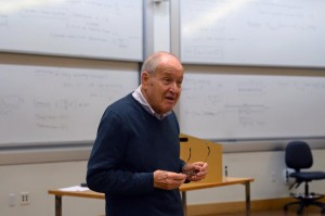 Dr. Katz, the co-creator of the measles vaccine, talks to the Duke Red Cross Club